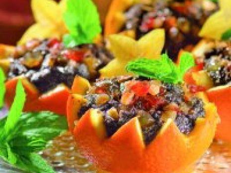 Przepis: Bakaliowe pomarańcze