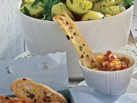 Przepis: Pasta warzywna z grzanką