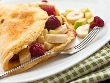 Przepis: Omlet-grzybek na słodko