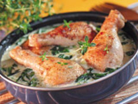 Przepis: Kurczak ze szpinakiem