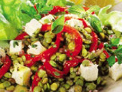 Przepis: Sałatka z zielonej soczewicy