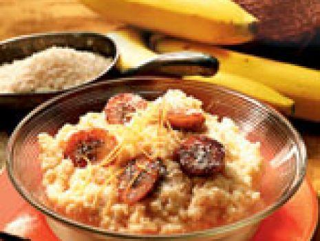 Przepis: Kokosowy ryż z bananami