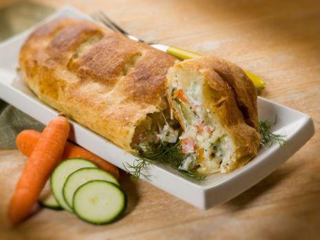 Przepis: Kulebiak warzywny