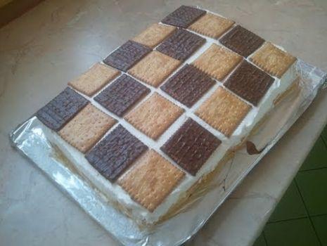 Ciasto brzoskwiniowe szachownica [KuchniaRenaty]