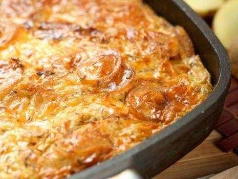 Ziemniaki zapiekane z kapusta i grzybami