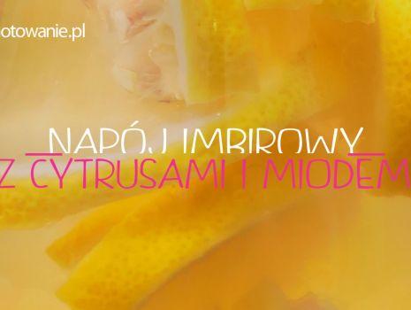 Napój imbirowy z cytryną i miodem