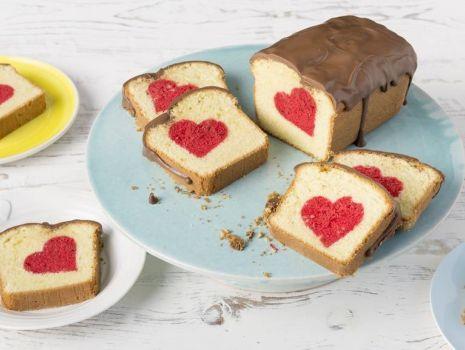 Ciasto na walentynki - z sercem