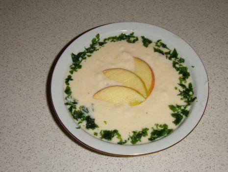 Przepis: Zupa krem z pora i jabłek