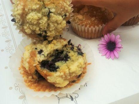 Przepis: Muffiny z jagodami