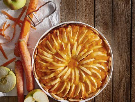 Przepis: Tarta marchewkowo-jabłkowa