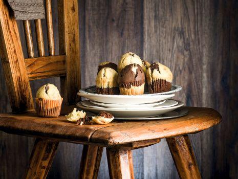 Przepis: Dwukolorowe muffinki