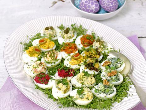 Przepis: Jajka faszerowane z farszem włoskim
