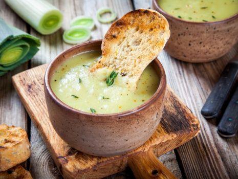Przepis: Zupa krem z porów i ziemniaków