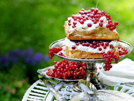 Przepis: Ciasto z porzeczkami i bitą śmietaną