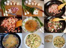 Jajecznica na kiełbasie lub boczku …