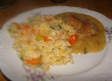 Ryż z warzywami z sosem