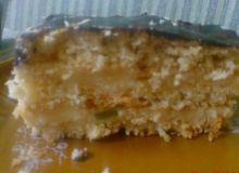 ciasto przekładane gotowanym serem ze skórka pomaranczową i kandyzowaną żurawiną