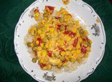Ryż z kurczakiem, curry i warzywami