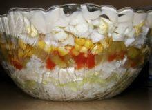 Sałatka warstwowa - ryżowa