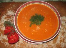 Zupa pomidorowa z ryżem i koperkiem
