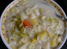 zupa z białą kapustą na bulionie