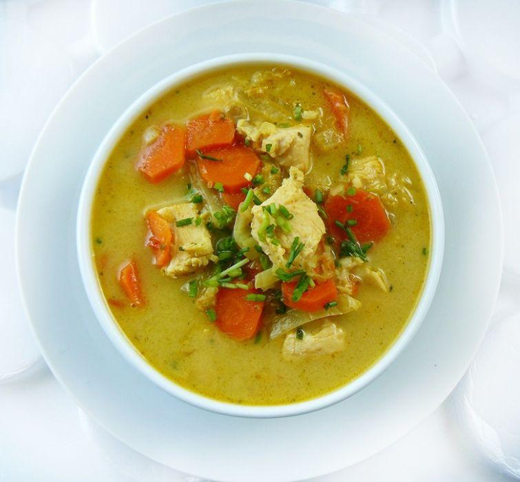 Zupa Tajska Z Kurczakiem I Mlekiem Kokosowym Przepis Na Zupa