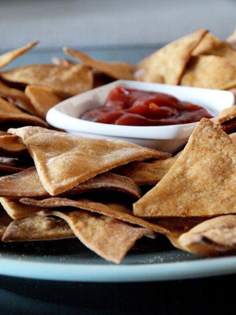 Tortilla chips - pikantne nachosy