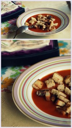 Krem z pieczonych pomidorów