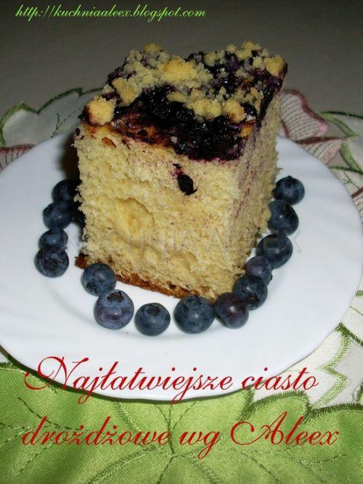 Najłatwiejsze Ciasto Drożdżowe Wg Aleex