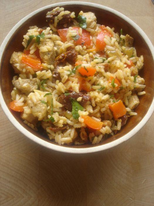 Risotto z mięsem i warzywami