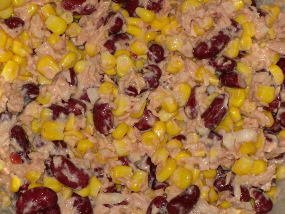 Sałatka z tuńczyka i czerwonej fasoli  Przepis na sałatka z tuńczyka i czerw   -> Kuchnia Francuska Kremowy Mus Z Tunczyka