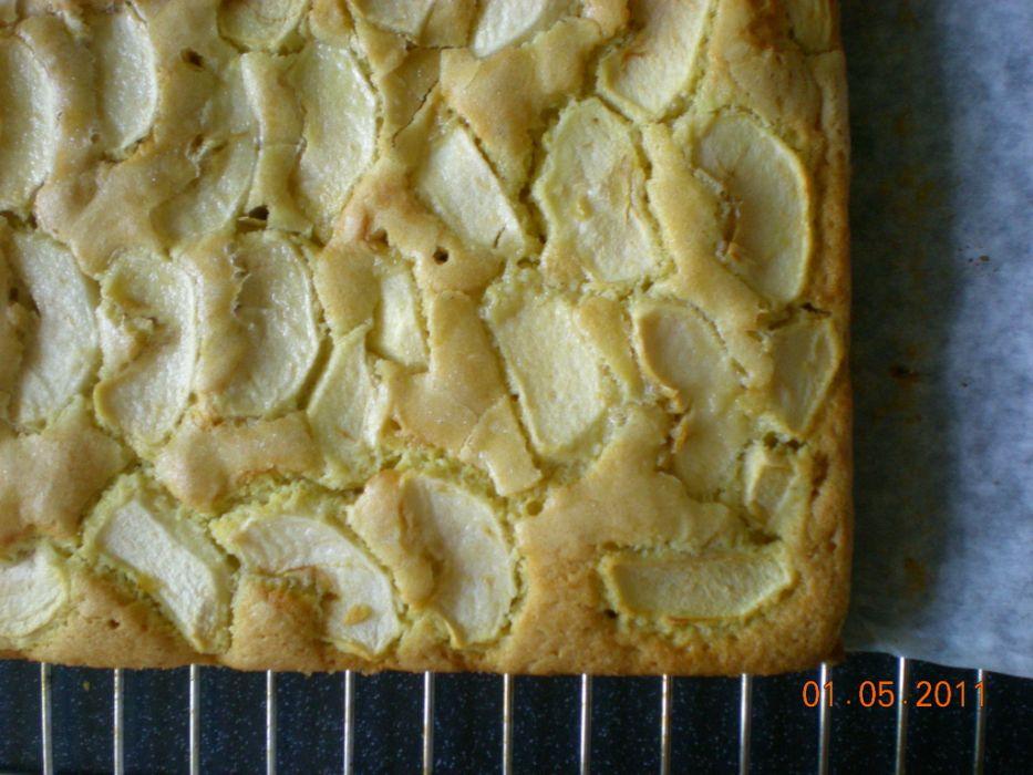 Ciasto ucierane z jablkami