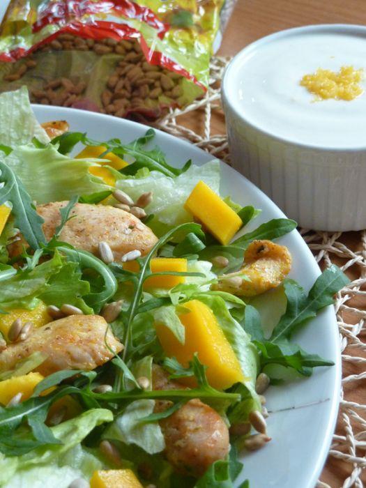 Sałatka z kurczakiem i mango