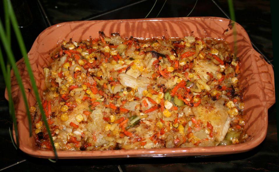 Kurczak zapiekany z warzywami
