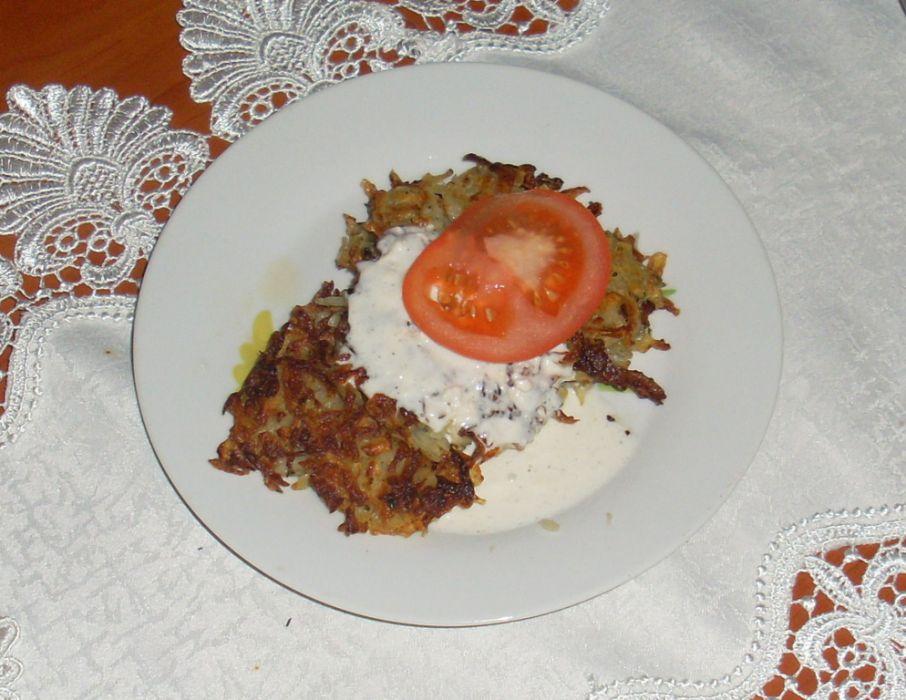Dietetyczne placki ziemniaczane