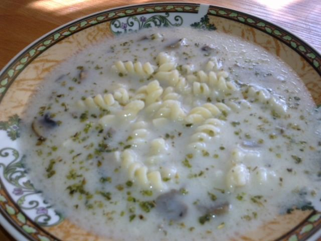 Zupa pieczarkowa z makaronem