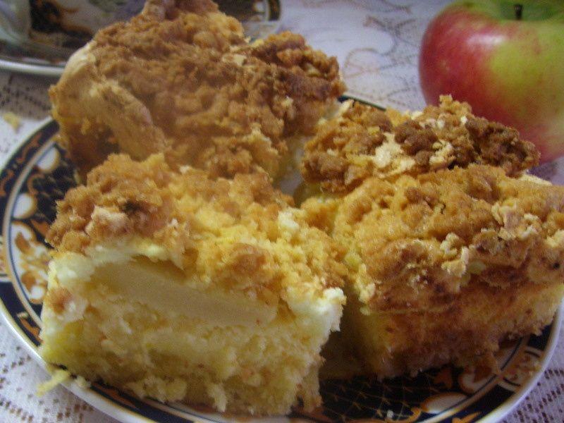 Niebiański sernik z jabłkami