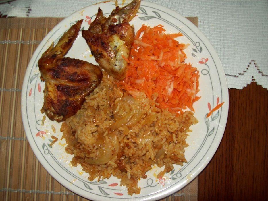 Zapiekane skrzydełka z ryżem