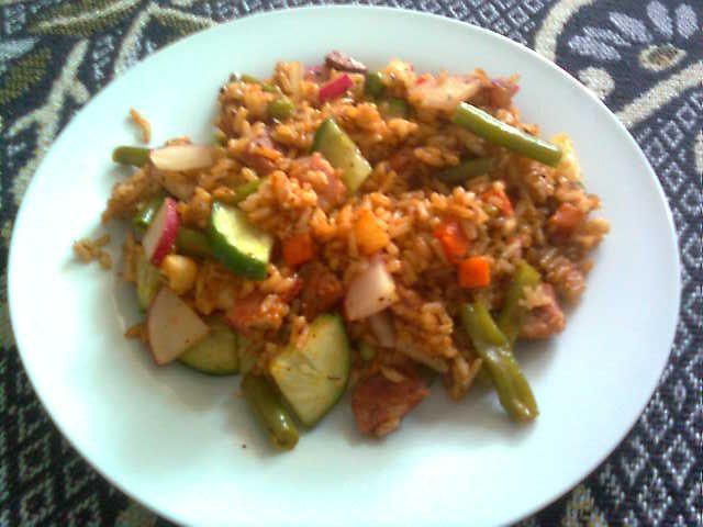 szybkie danie z ryżem