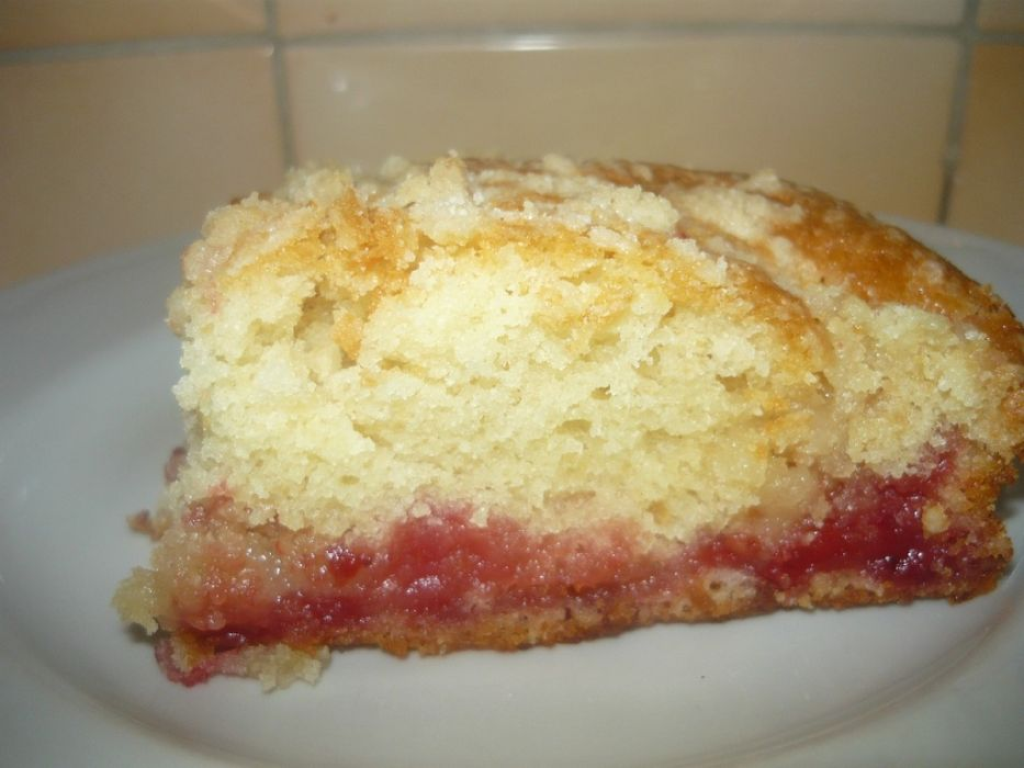 Szybkie Ciasto Z Dzemem I Kruszonka