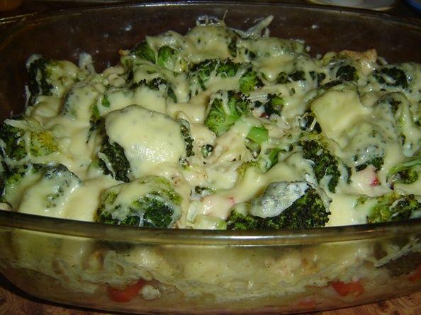 Nieziemska zapiekanka z kurczakiem i brokułami