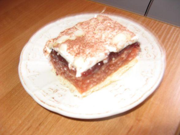 Ciasto Biszkoptowe Z Jablkami I Bita Smietana Przepis Na Ciasto
