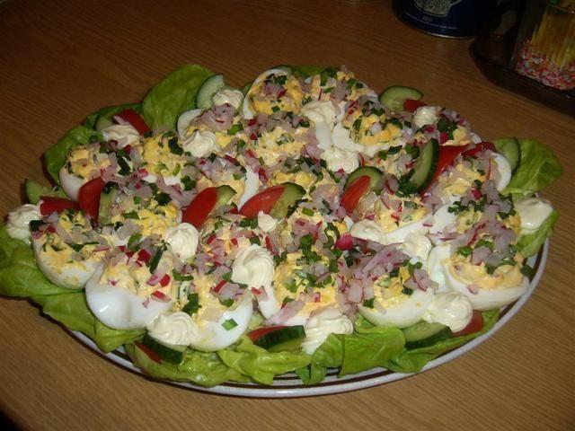 Jajka faszerowane wiosenne