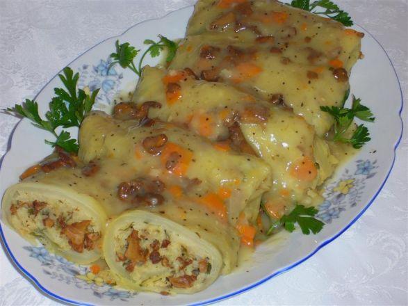 Gołąbki wigilijne z kurkami i ryżem