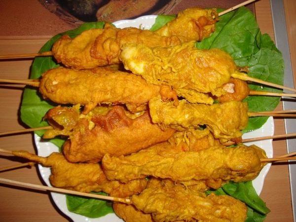 tempura kurczak na patyku