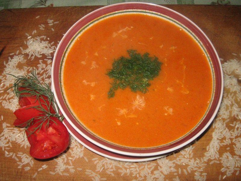Zupa Pomidorowa Z Ryżem I Koperkiem Przepis Na Zupa Pomidorowa Z