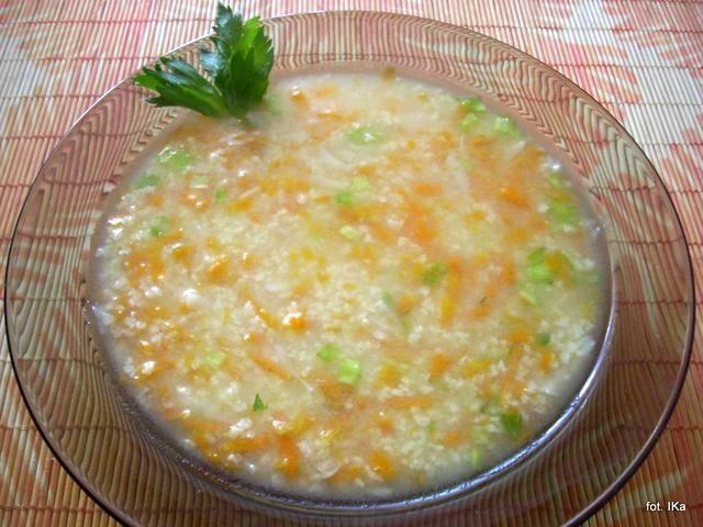 Zupa dietetyczna z kaszą jaglaną