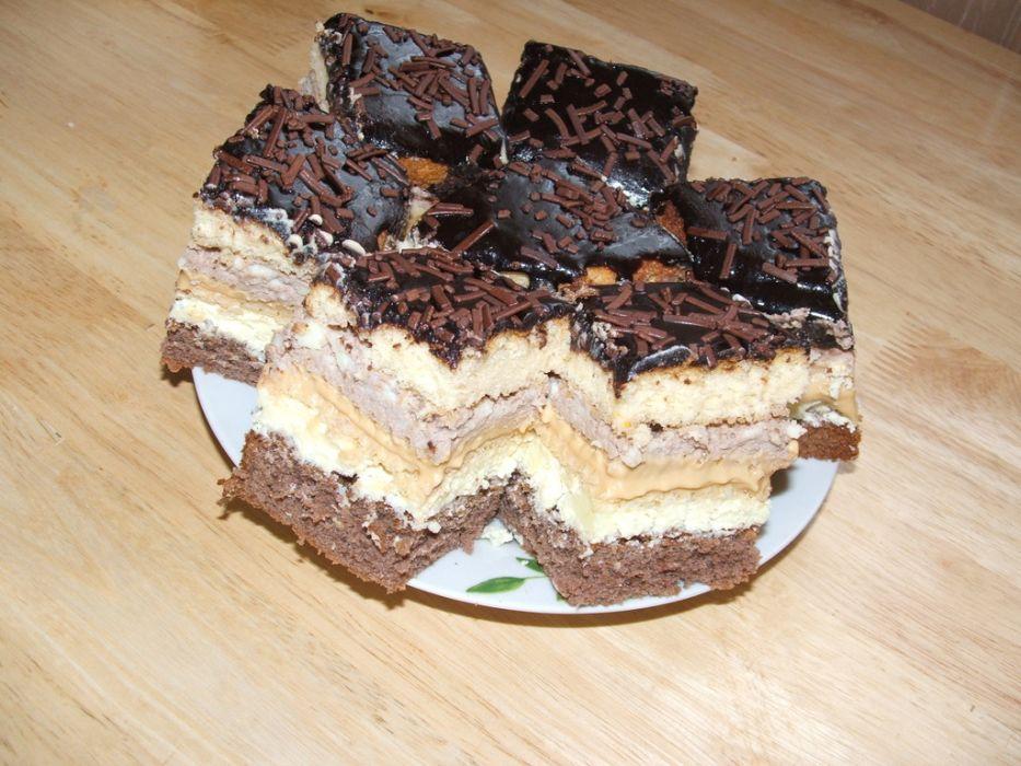 Ciasto z masą toffi