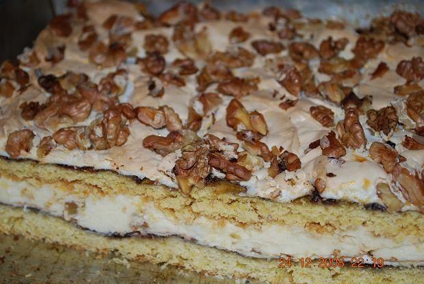 Ciasto orzechowe z powidłami