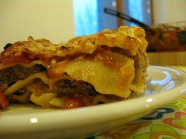 Lasagne Z Miesem I Pomidorami